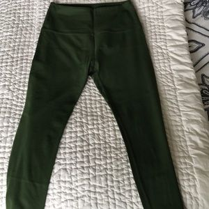 Beyond Yoga Olive Green Capri, size large